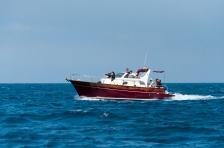 Charter boat cruising to Capri