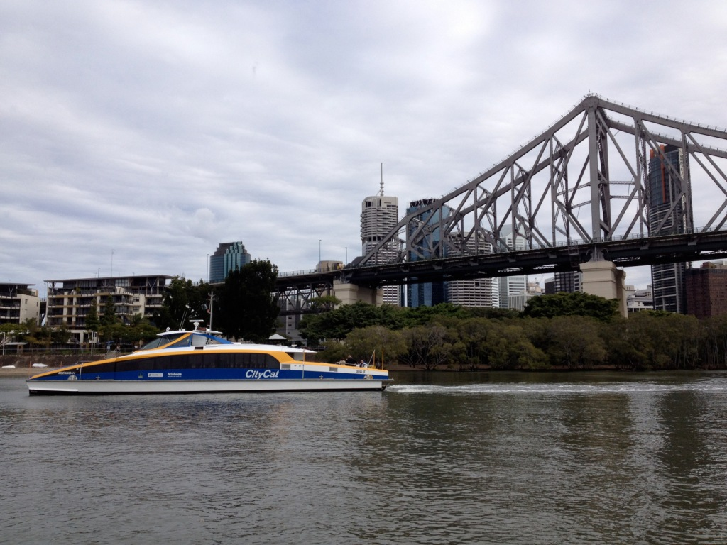 Brisbane CityCat on the Brisbane River