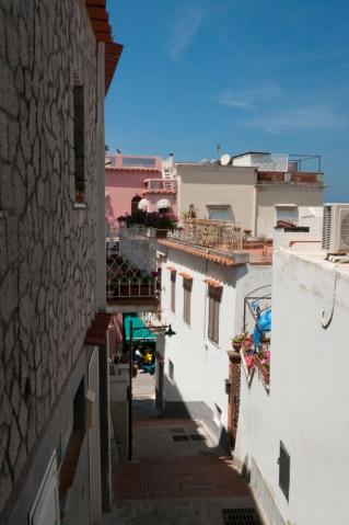 The long walk up on the Island of Capri