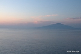Sun setting in Sorrento