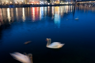 Reflections of light on the river, Lucerne