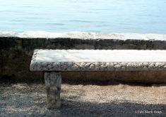 Bench seat, Villa Monastero Gardens, Varenna