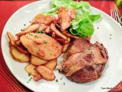 duck and potatoes